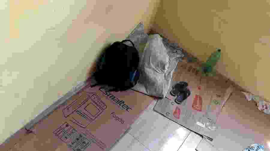 Parte dos trabalhadores resgatados dormia sobre papelão em Olinda - GEFM