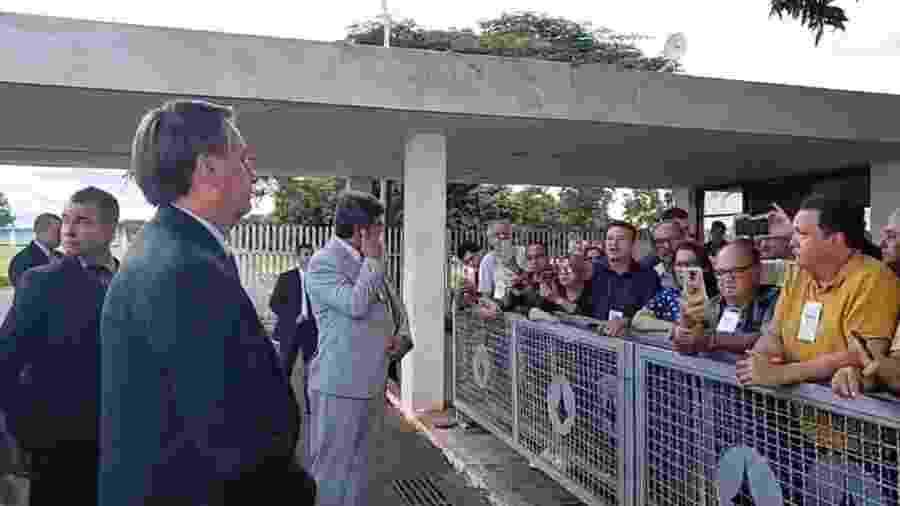 Presidente se manteve afastado do público hoje no Planalto enquanto espera resultado de exame para novo coronavírus - Reprodução