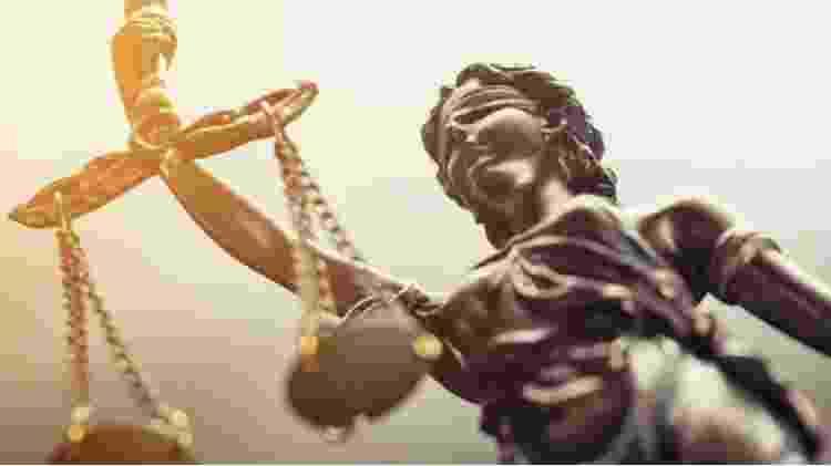 Detalhe da estátua da Justiça - Reprodução - Reprodução