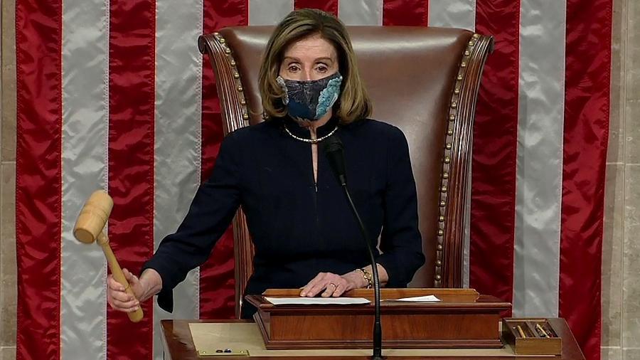 13.jan.2021 - Presidente da Câmara dos Deputados, a democrata Nancy Pelosi - Reuters