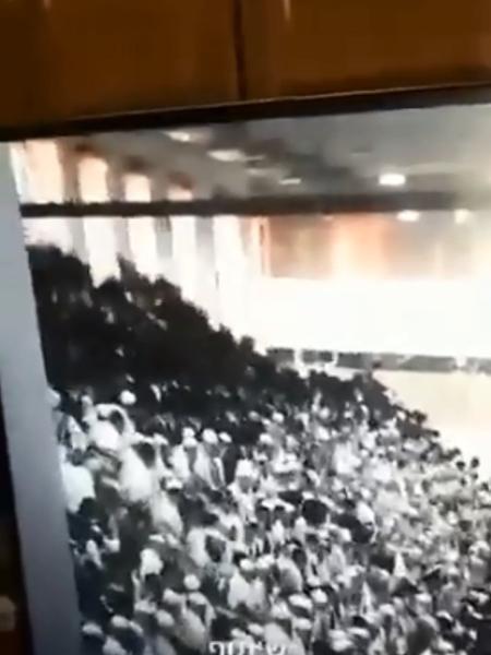 Momento que a sinagoga desaba, na Cisjordânia - Reprodução/Twitter/Breaking911