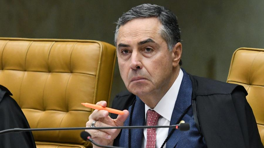 Barroso, que na semana passada fez um discurso duro em resposta aos ataques de Bolsonaro, voltou a apontar ameaças à democracia - Carlos Moura/SCO/STF