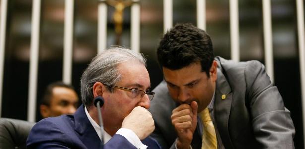 Eduardo Cunha (esq.) e Leonardo Picciani: em comum, os dois foram líderes do PMDB na Câmara