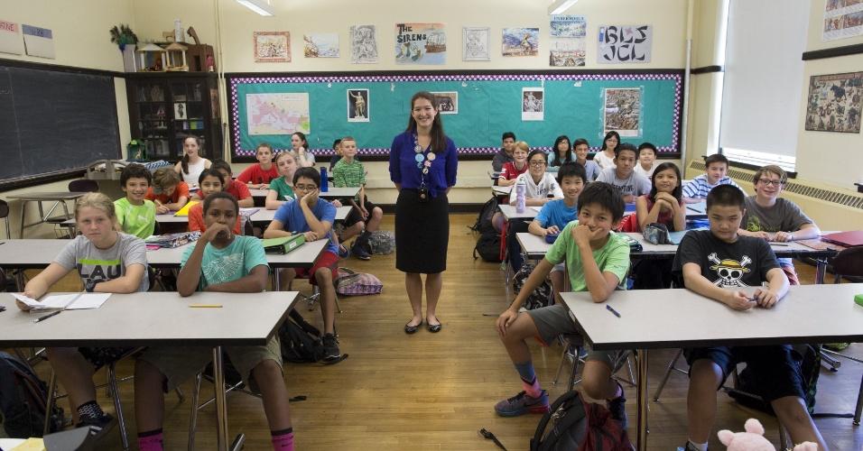 salas de aula ao redor do mundo