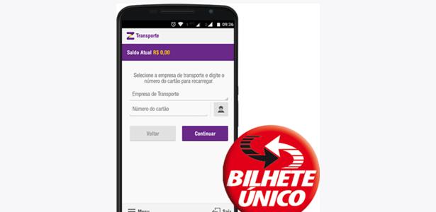 Aplicativo Zuum, que carrega créditos no Bilhete Único de São Paulo