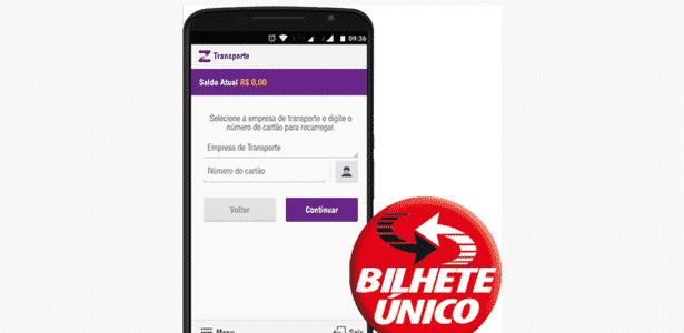 Aplicativo Zuum, que carrega créditos no Bilhete Único de São Paulo - Reprodução