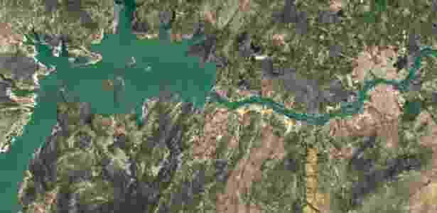 Nova técnica, que consumiu 6 milhões de horas de processamento de dados, corrigiu falhas. Na foto, o Rio São Francisco - Google/Landsat - Google/Landsat