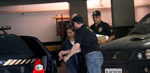 A prefeita de Ribeirão Preto, Dárcy Vera (PSD) na sede da PF após ser presa