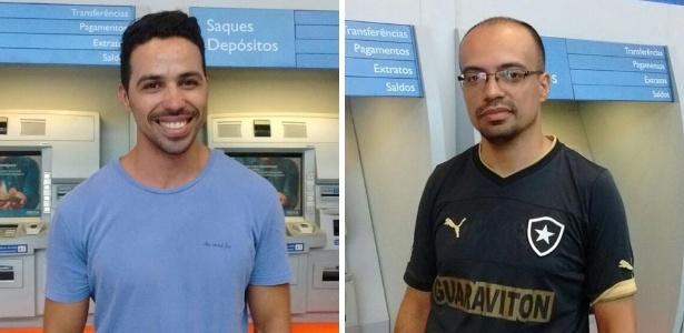 Antônio Rodrigues (esq.) e Beethoven Lina já têm planos para usar dinheiro que sacaram - Afonso Ferreira/UOL