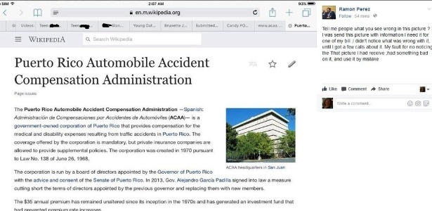 Imagem da tela com abas em sites pornôs (no alto)