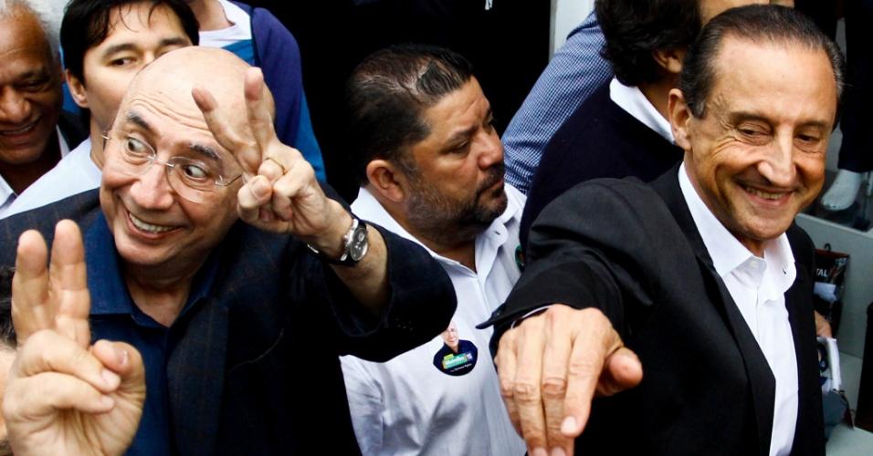 4.set.2018 -  O candidato à presidência da República, Henrique Meirelles e o candidato ao governo do Estado, Paulo Skaf, ambos do MDB, fazem caminhada pelas ruas do Brás na manhã desta terça-feira