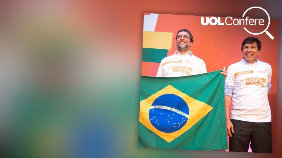 Christian Lohbauer (esq.) e João Amoêdo (à dir.), candidatos do Novo - Arte/UOL