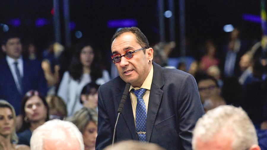 O senador Jorge Kajuru (Pode-GO) se comparou ao apresentador Luciano Huck, que não foi definido como candidato - Geraldo Magela/Agência Senado