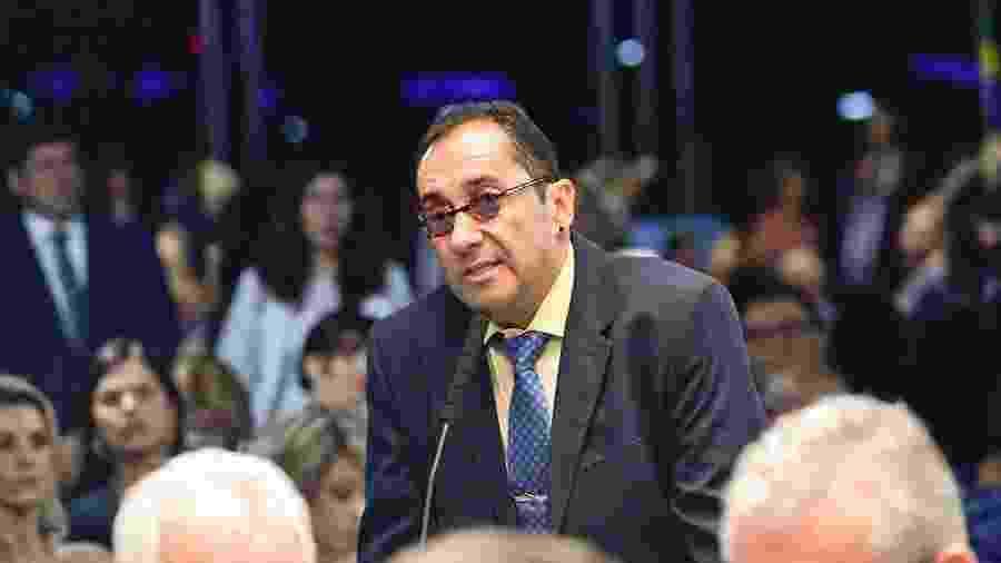 Jorge Kajuru (PSB-GO) toma posse como senador, em 1º de fevereiro - Geraldo Magela/Agência Senado - 1º.fev.2019