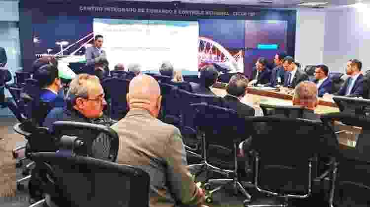 Deputado Luciano Zucco (PSL-RS) fala sobre projeto de lei para proteger policiais em reunião com secretários de segurança - Divulgação - Divulgação