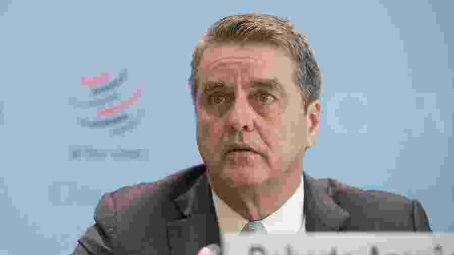 2.abr.2019 - Roberto Azevedo, diretor geral da Organização Mundial do Comércio (OMC) - Xinhua/Xu Jinquan