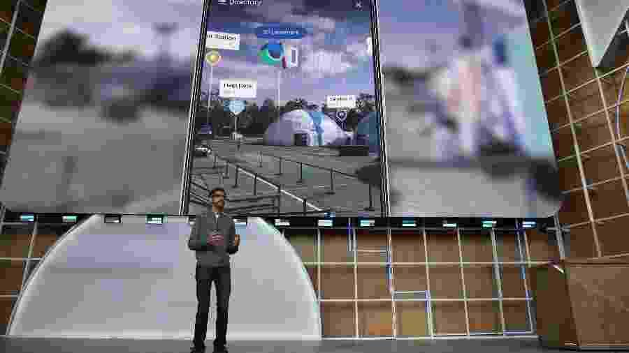 Sundar Pichai, executivo-chefe do Google, não recebe bônus há mais de dois anos - Justin Sullivan/AFP