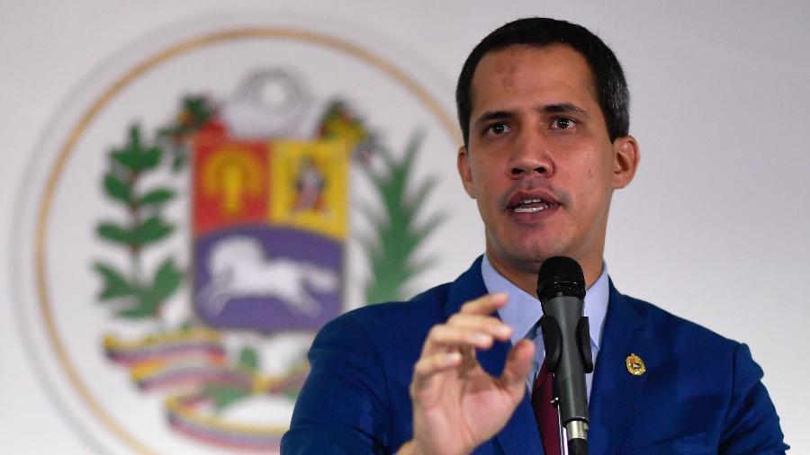 15.nov.2019 - O autoproclamado presidente da Veneuzela, Juan Guaidó - Federico Parra/AFP