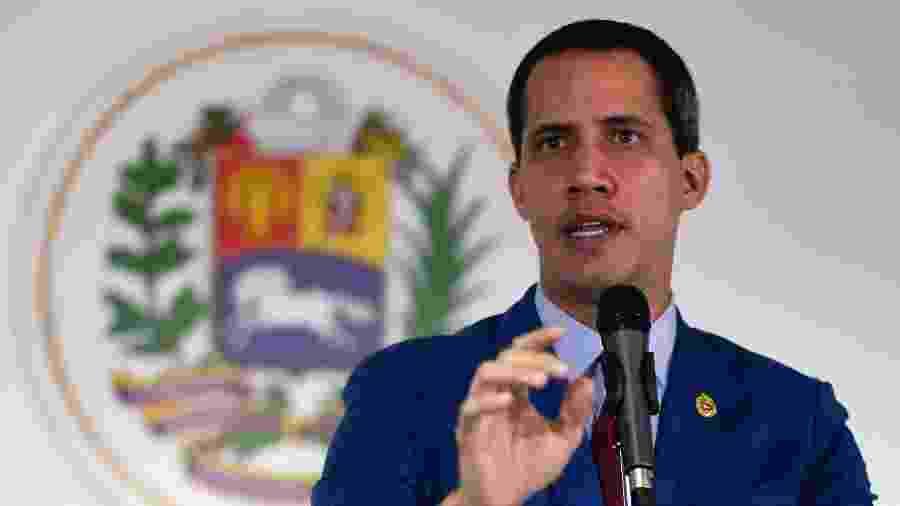 O autoproclamado presidente da Veneuzela, Juan Guaidó - Federico Parra/AFP