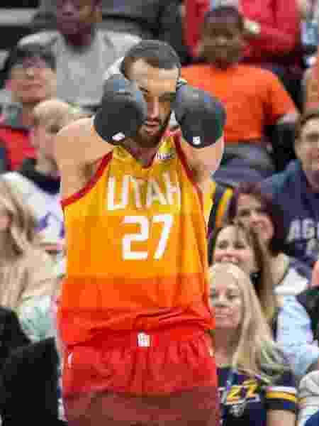 Jogador do Utah Jazz Rudy Gobert - Russell Isabella