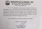 Cidade de MG decreta dia de oração e jejum para combater coronavírus - Reprodução
