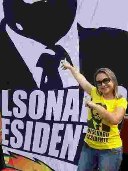 Elaine Cristina, na época da campanha - Arquivo Pessoal - Arquivo Pessoal