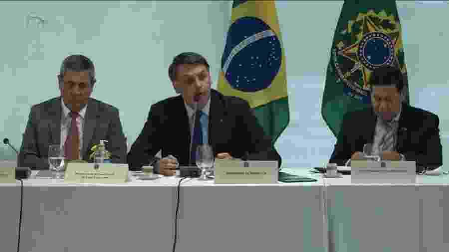 Presidente Bolsonaro tornou pública a insatisfação com o serviço de inteligência na reunião de 22 de abril - Reprodução/UOL
