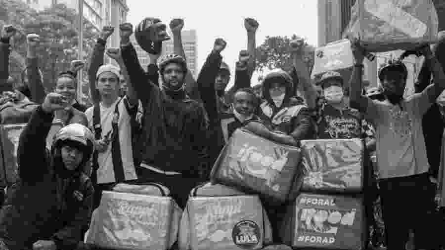 Entregadores fazem manifestação por direitos em São Paulo - Divulgação/Guimel Salgado, PANDELIVERY