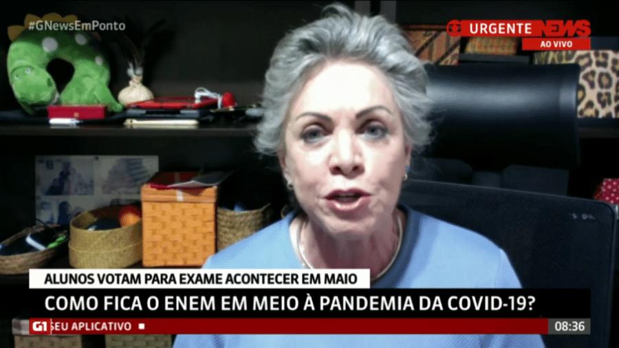 Maria Inês Pini, ex-presidente do Inep, em entrevista à GloboNews - Reprodução