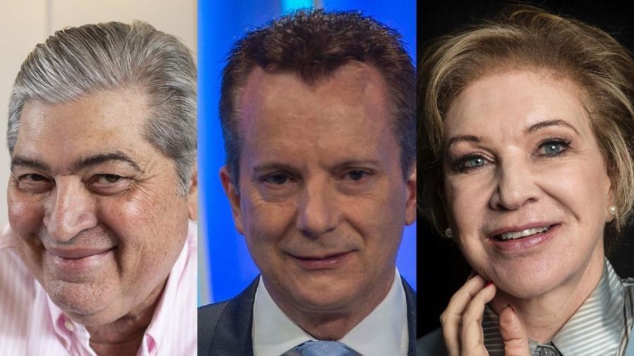 Datena, Russomanno e Marta ainda não indicaram como vão se posicionar para a eleição paulistana - Divulgação