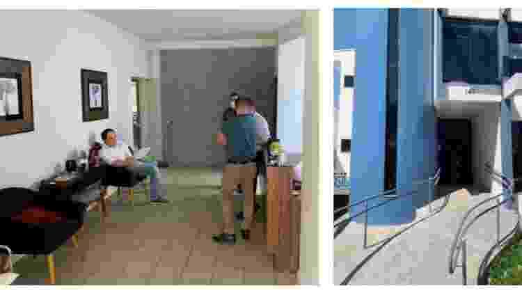 Momento da prisão do advogado Wellington Alcântara - Reprodução/Polícia Civil - Reprodução/Polícia Civil