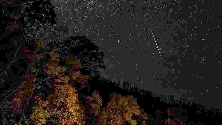 Meteoros percorrem a atmosfera, criando um espetáculo visual - Getty Images - Getty Images