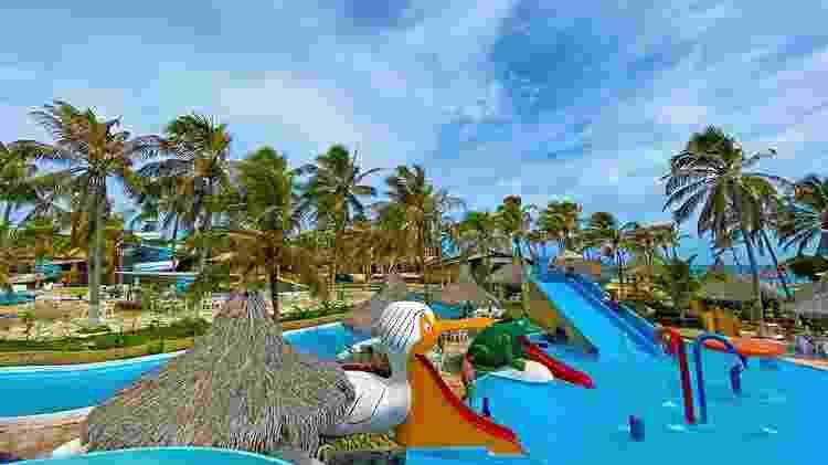 Hotel Parque das Fontes, em Beberibe, CE, tem um parque aquático - Divulgação - Divulgação