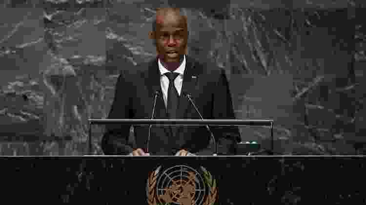 Jovenel Moise durante Assembleia Geral da ONU em 2018 - TIMOTHY A. CLARY/AFP - TIMOTHY A. CLARY/AFP