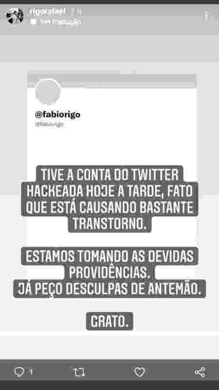 Postagem no instagram de Fabio Rafael Rigo, herdeiro da marca de arroz Prato Fino - Reprodução - Reprodução