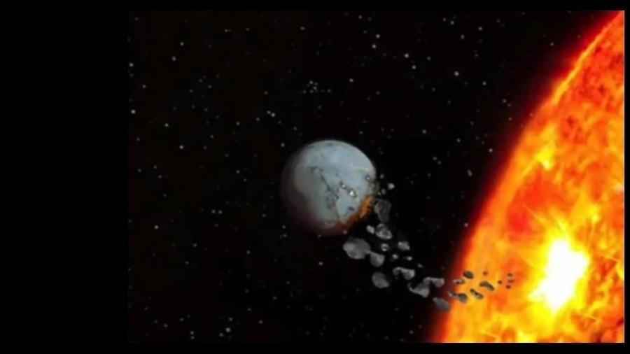 Impressão artística de planeta sendo devorado por sua estrela - Vanderbilt University/Fapesp