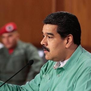 Nicolás Maduro, presidente da Venezuela, faz pronunciamento transmitido pela TV