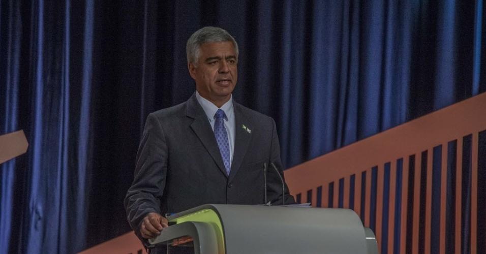23.set.2016 - O candidato à Prefeitura de São Paulo Major Olímpio (Solidariedade) participa do debate realizado por UOL, Folha e SBT