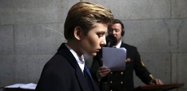 Barron Trump tem 10 anos e é o caçula do presidente americano