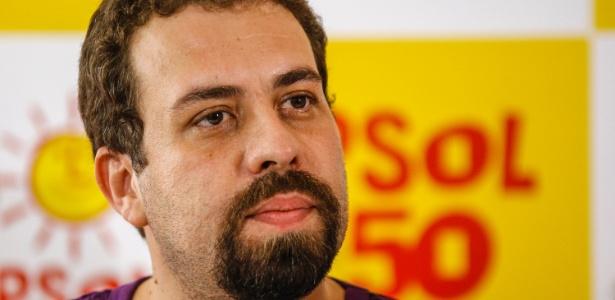 5.mar.2018 - O coordenador nacional do MTST (Movimento dos Trabalhadores Sem Teto) e pré-candidato à presidência da república, Guilherme Boulos