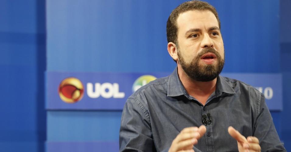 Guilherme Boulos na sabatina UOL, Folha e SBT