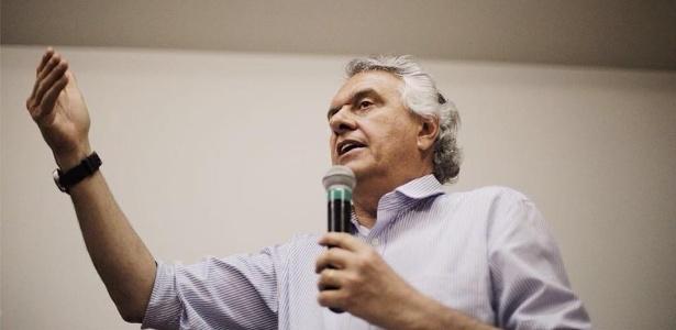 Ronaldo Caiado (DEM), candidato ao governo de Goiás, discursa em evento