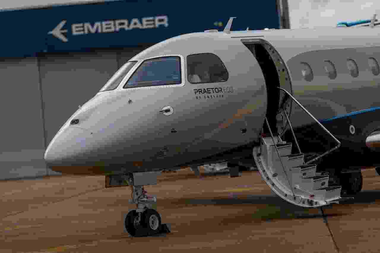 A Embraer lançou dois novos jatos executivos, o Praetor 500 e Praetor 600 - Roosevelt Cássio/UOL