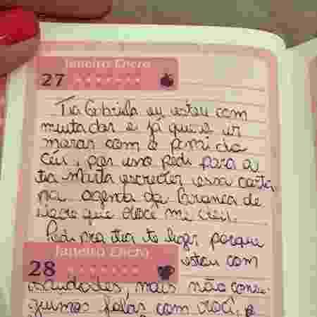 Júlia tinha leucemia e deixou carta para voluntária que a visitava - Arquivo pessoal
