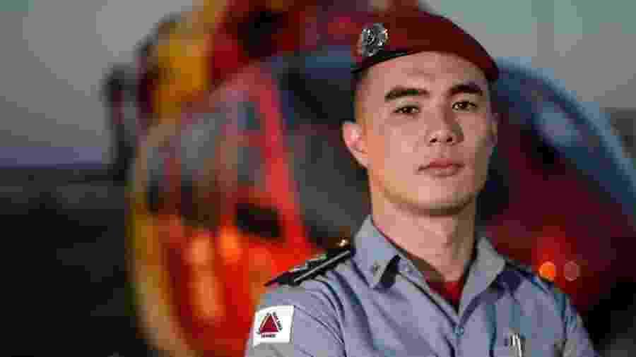 Tenente Pedro Aihara, porta-voz do Corpo de Bombeiros de Minas Gerais - Reprodução/Instagram