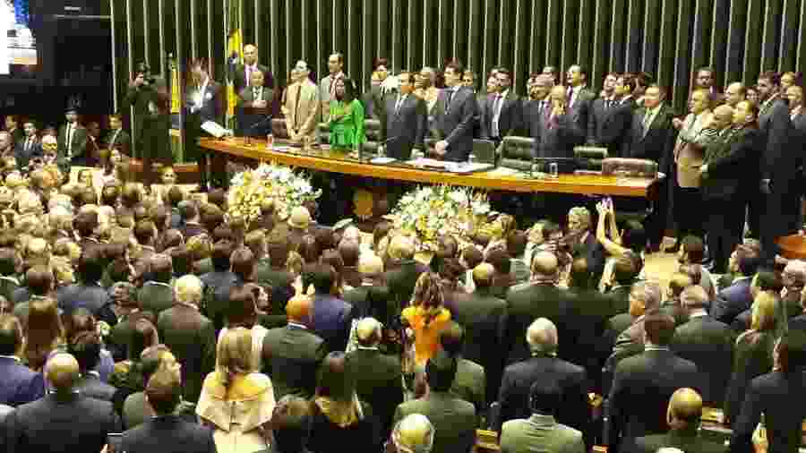 1.fev.2019 - Deputados eleitos em outubro tomam posse na Câmara - Guilherme Mazieiro/UOL