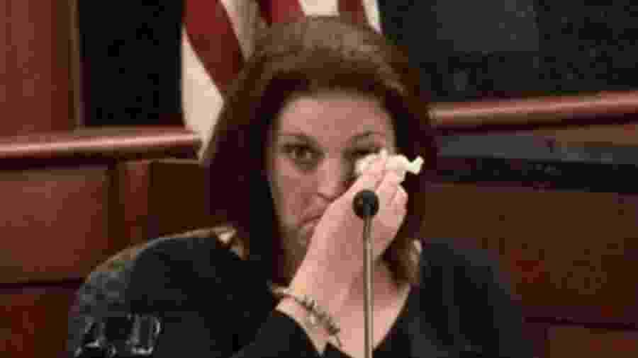 Amber Kyzer disse ao júri que o ex-marido não demonstrou a menor compaixão pelas crianças.