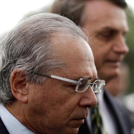 """Como se diz no futebol, o ministro da Economia, Paulo Guedes, """"está prestigiado"""" pelo presidente Jair Bolsonaro - REUTERS/Ueslei Marcelino"""