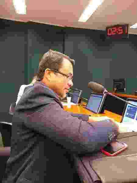Rosildo durante audiência pública no Congresso que discutiu o fim do Departamento Nacional de HIV/Aids - Divulgação  - Divulgação