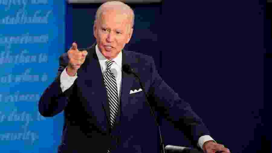 Em debate contra Trump, o candidato democrata Joe Biden criticou a política ambiental do Brasil - Getty Images